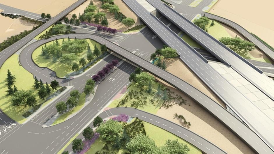 Baseline Road Interchange Visualization